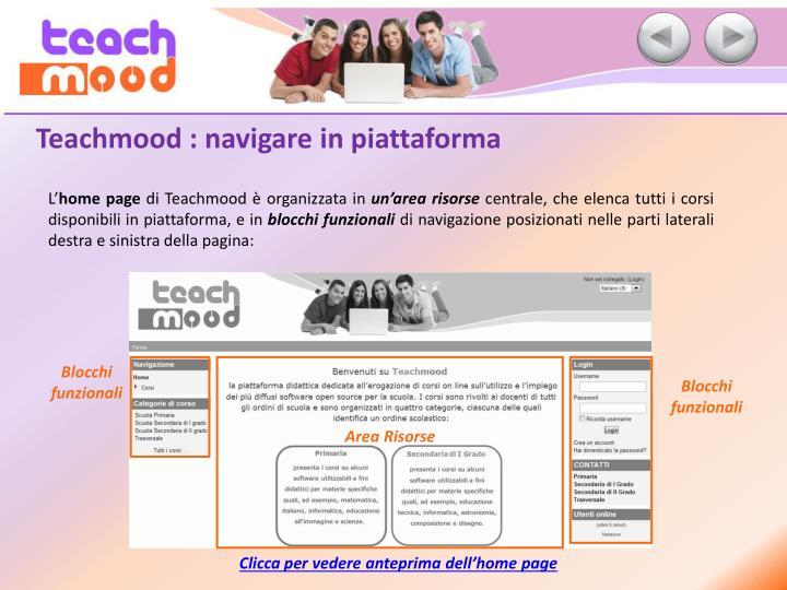 Teachmood : navigare in piattaforma