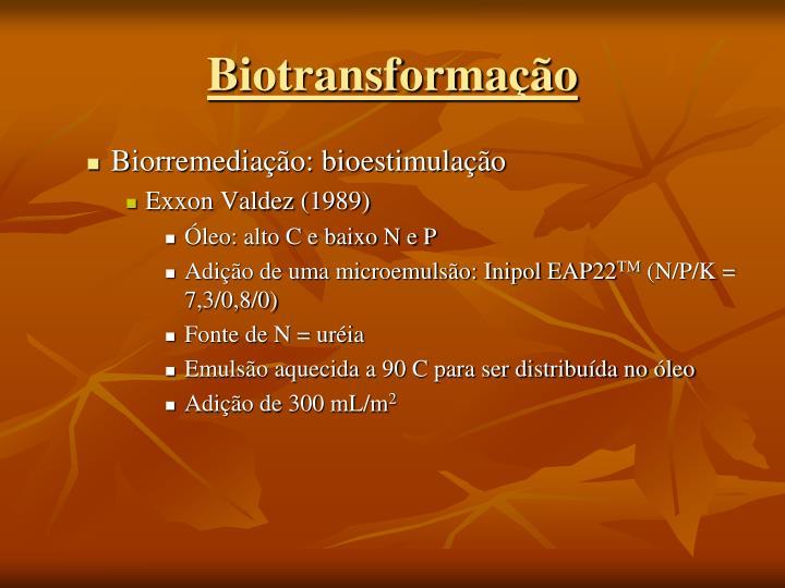 Biorremediação: bioestimulação