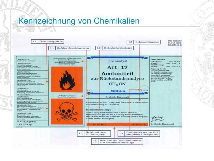 Kennzeichnung von Chemikalien