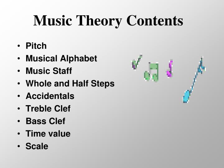 Music Theory Contents