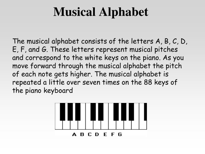 Musical Alphabet