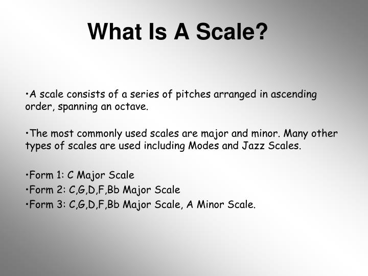 What Is A Scale?