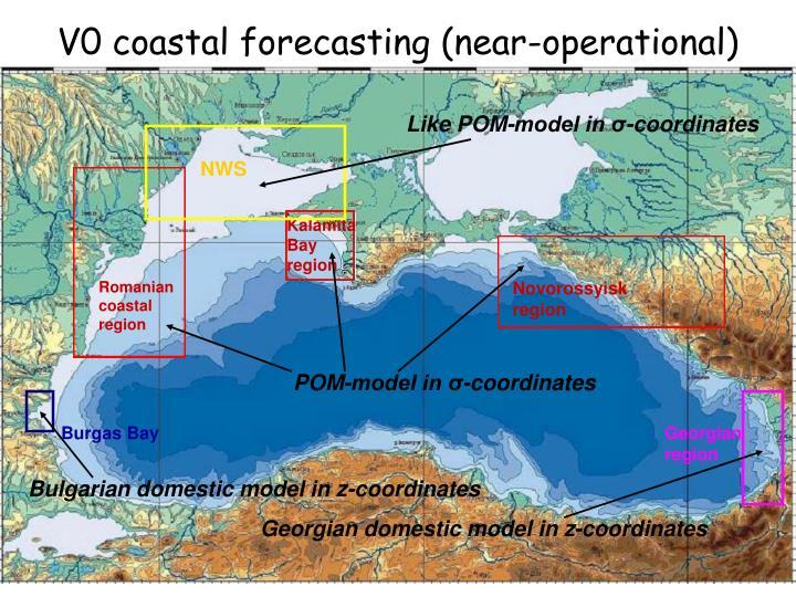 V0 coastal forecasting (near-operational)