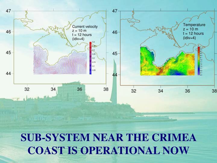 SUB-SYSTEM NEAR THE CRIMEA COAST IS OPERATIONAL NOW