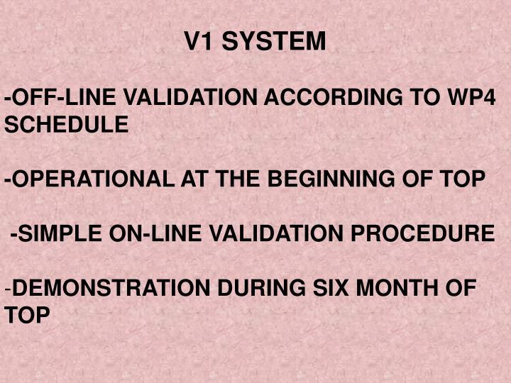 V1 SYSTEM