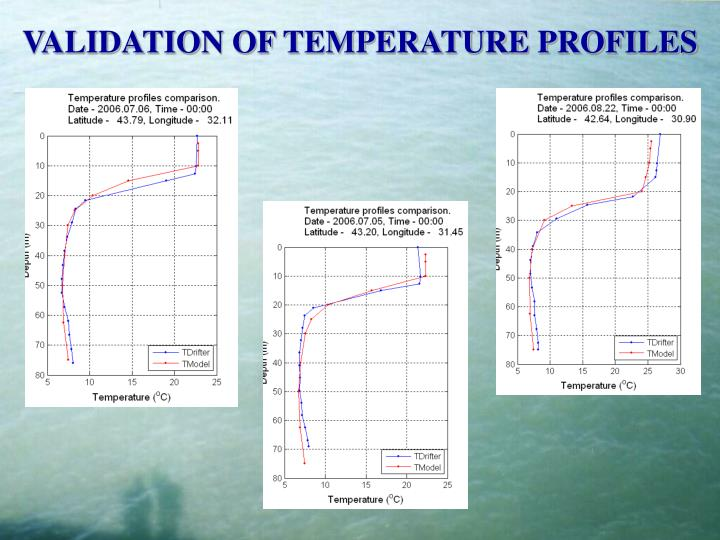 VALIDATION OF TEMPERATURE PROFILES
