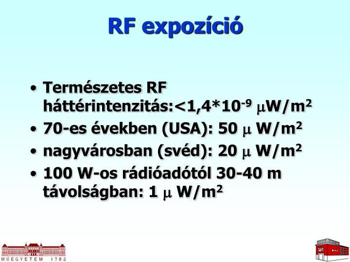 RF expozíció