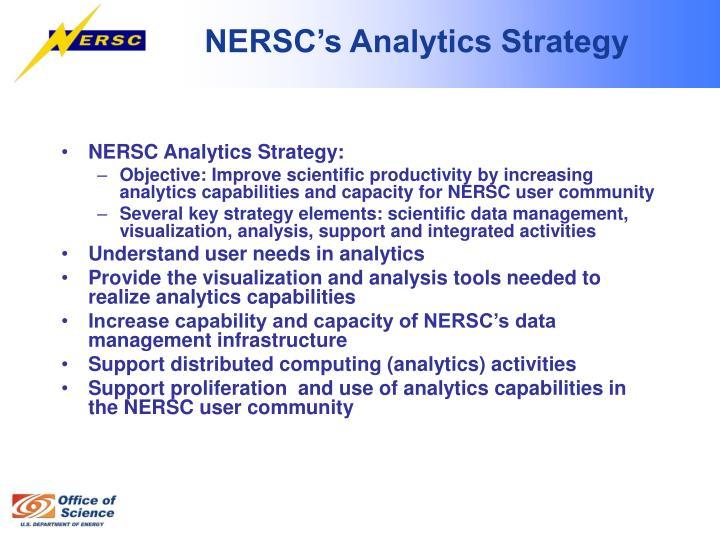 NERSC's Analytics Strategy