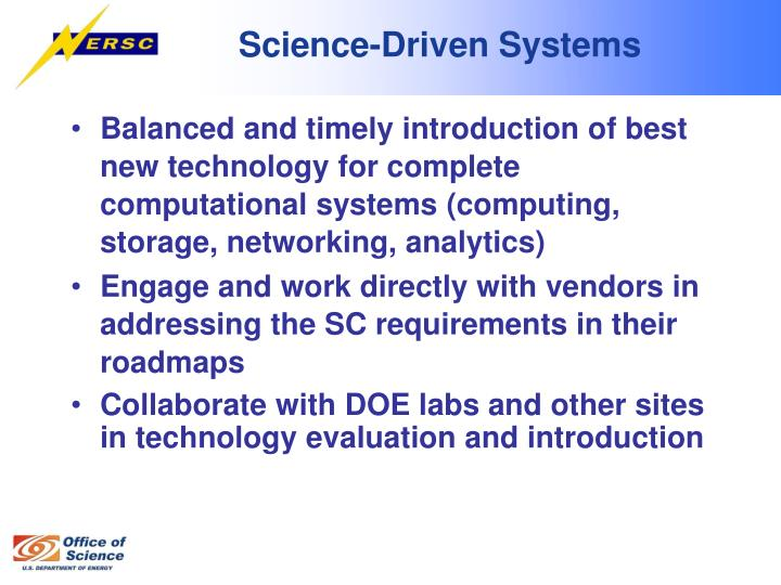 Science-Driven Systems