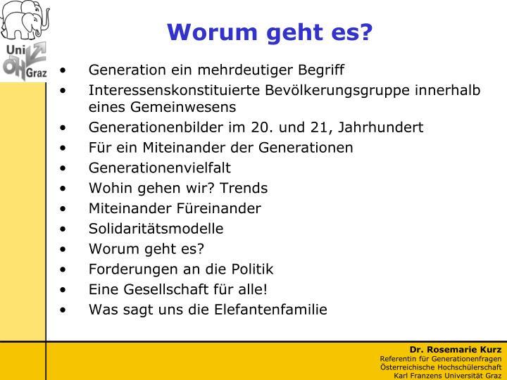 Generation ein mehrdeutiger Begriff