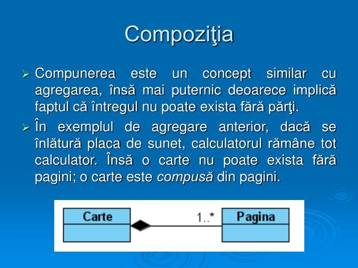 Compoziţia
