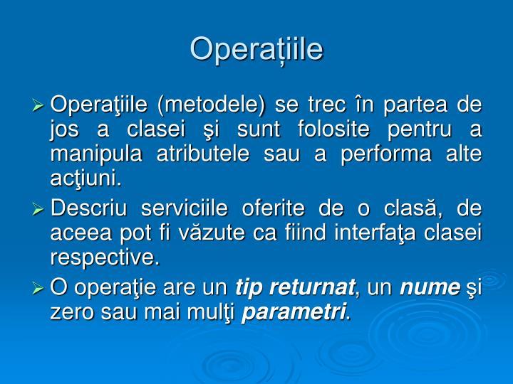 Operațiile