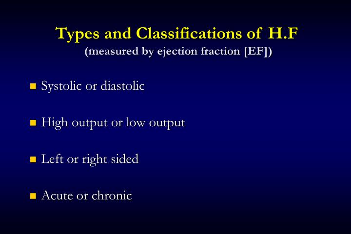 Types and Classifications of H.F