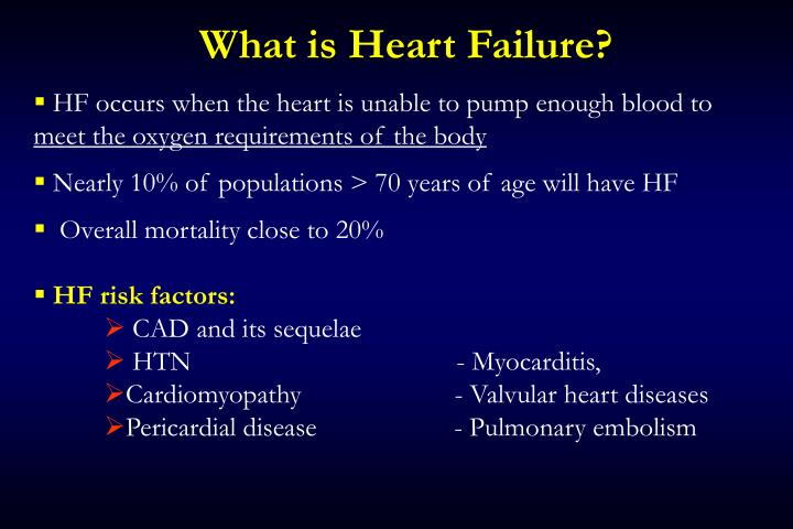 What is heart failure1