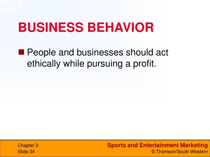BUSINESS BEHAVIOR