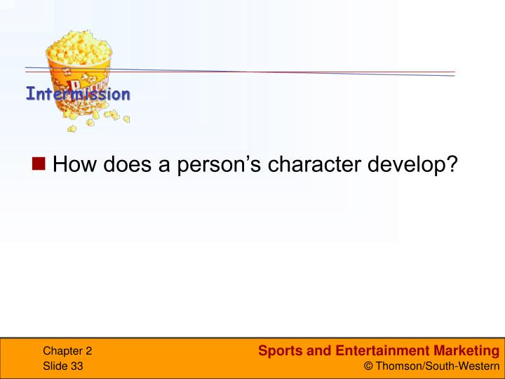 How does a person's character develop?