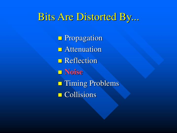 Bits Are Distorted By...