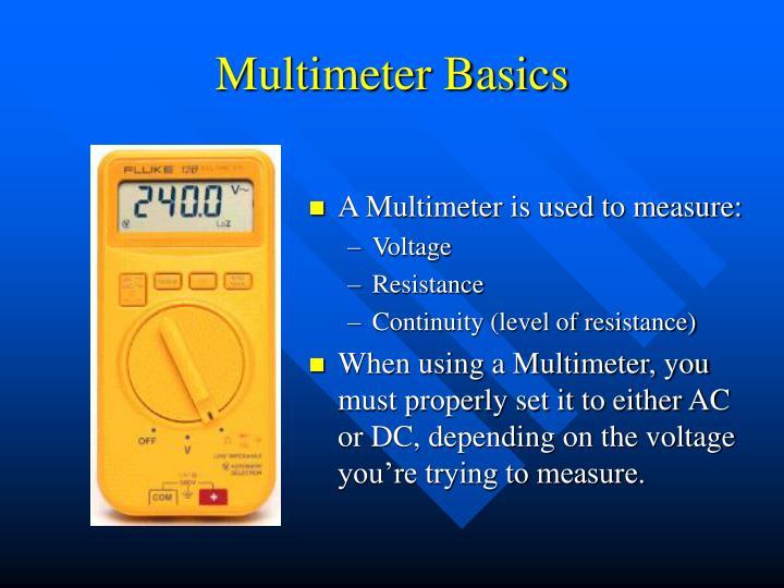 Multimeter Basics