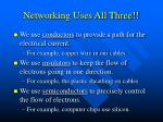 networking uses all three