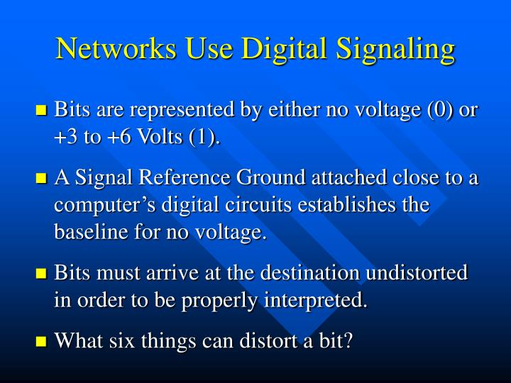 Networks Use Digital Signaling