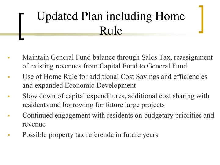 Updated Plan including Home Rule