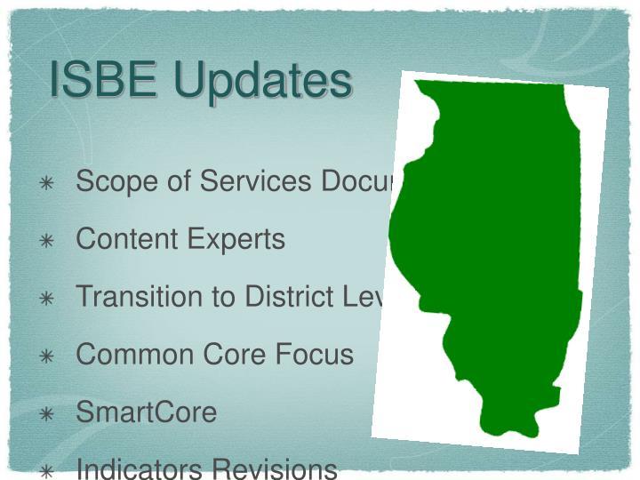 ISBE Updates