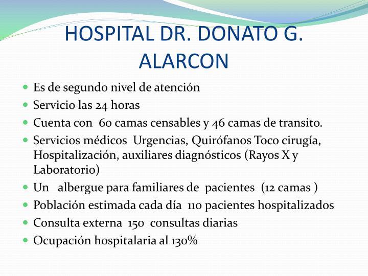 HOSPITAL DR. DONATO G. ALARCON