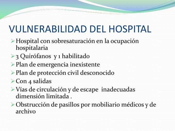 VULNERABILIDAD DEL HOSPITAL