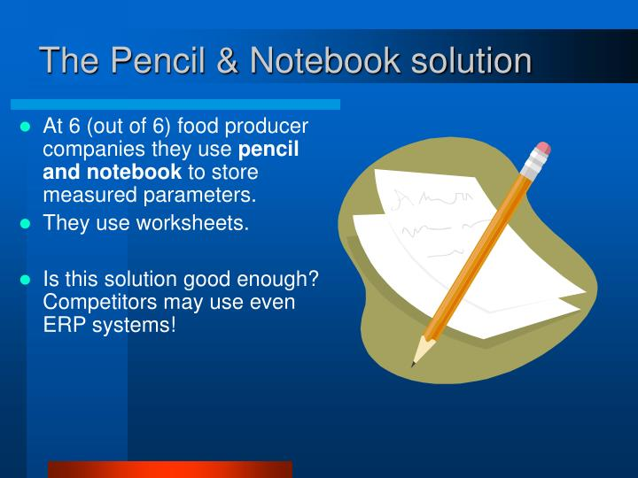 The Pencil & Notebook solution