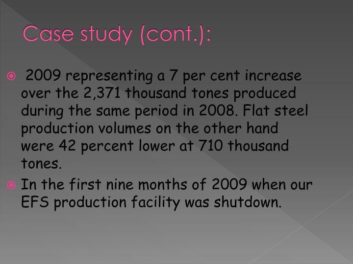 Case study (cont.):