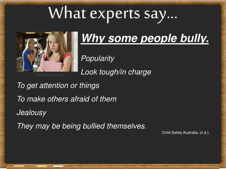 What experts say...