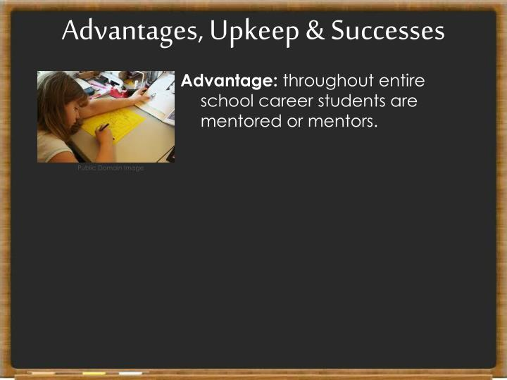 Advantages, Upkeep & Successes