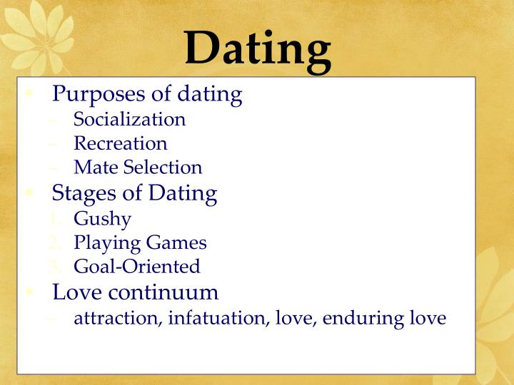 Different kinds of dating relationships