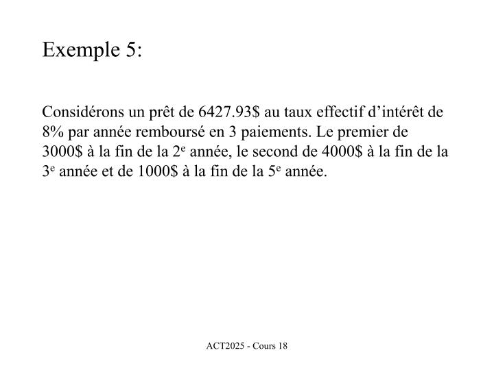 Exemple 5: