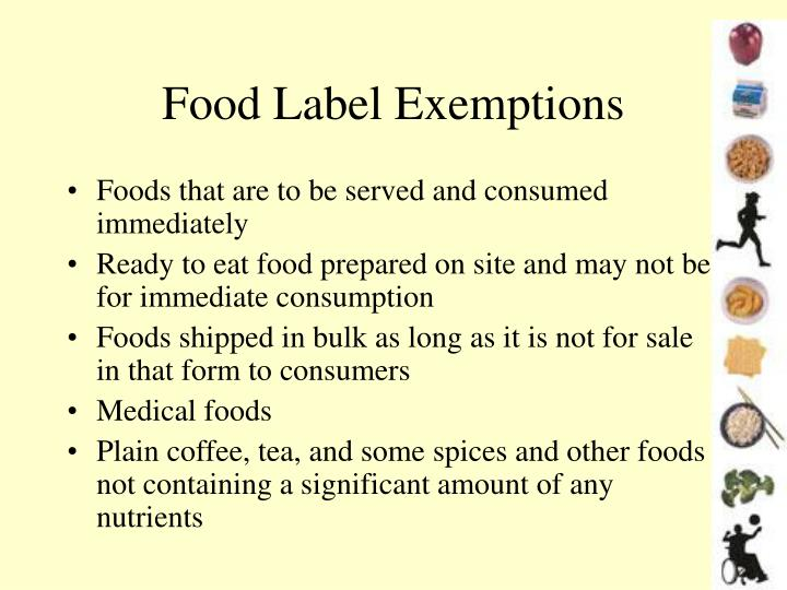 Food Label Exemptions