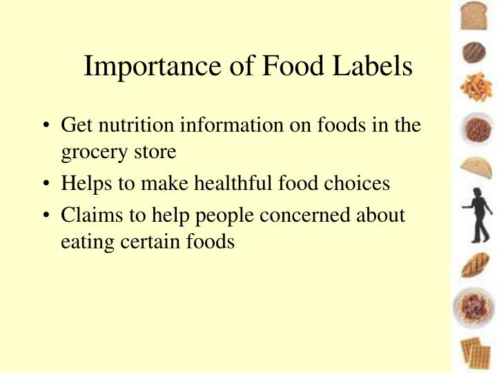 Importance of Food Labels
