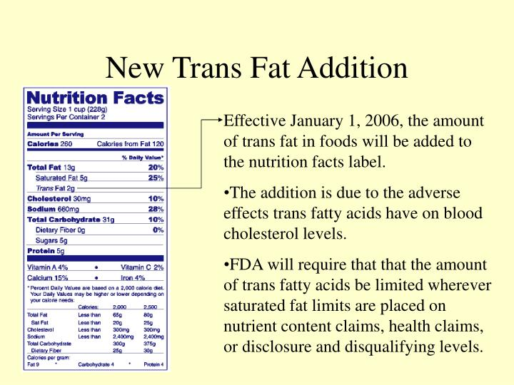 New Trans Fat Addition