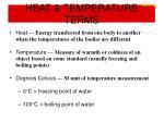 heat temperature terms