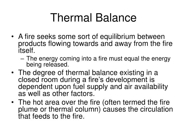 Thermal Balance