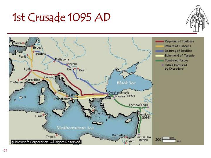 1st Crusade 1095 AD