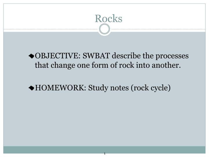 rock cycle essay questions