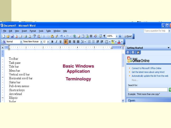 Basic Windows Application