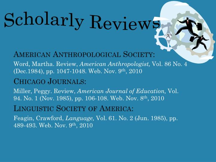 Scholarly Reviews