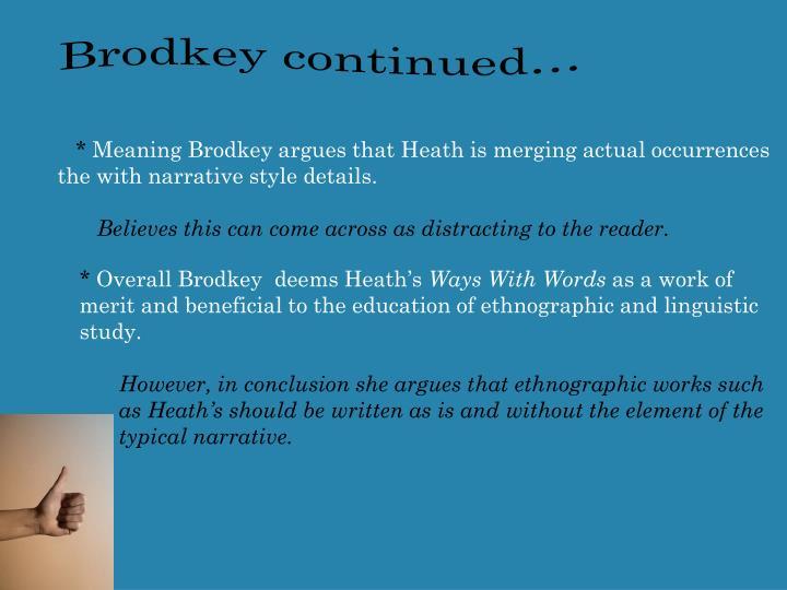Brodkey