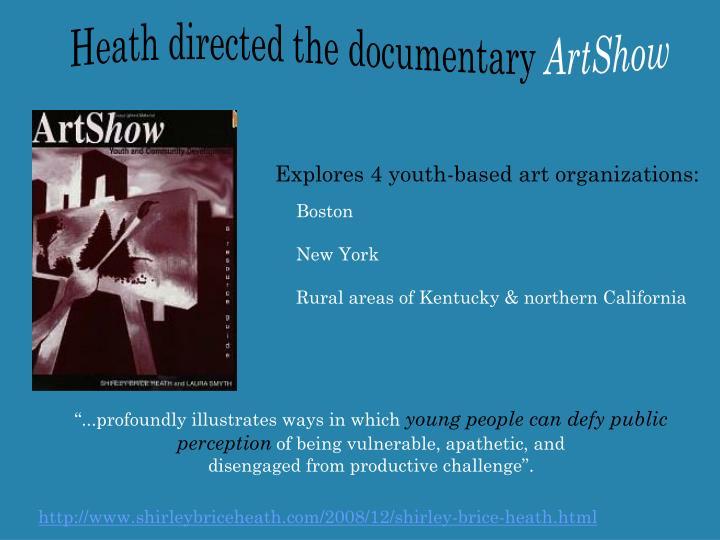 Heath directed the documentary