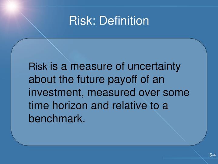 Risk: Definition