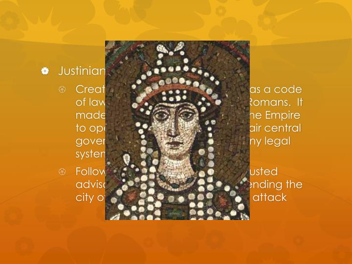 Justinian's accomplishments: