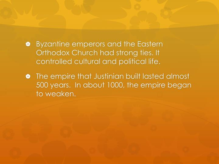 Byzantine emperors and the Eastern Orthodox Church
