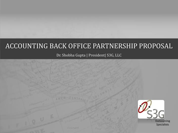 Accounting back office partnership proposal