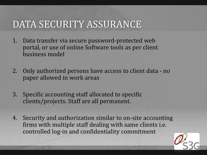 Data security assurance